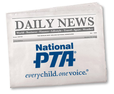 Newspaper with National PTA Logo