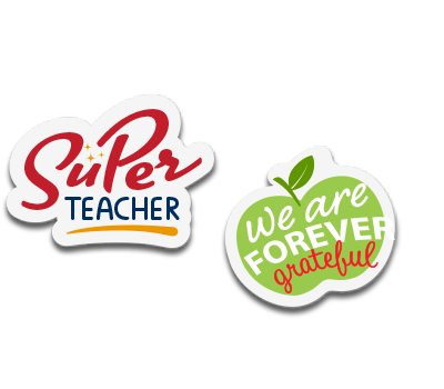 Teacher Appreciation Stickers