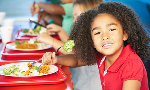 School meals can provide needed nutrition