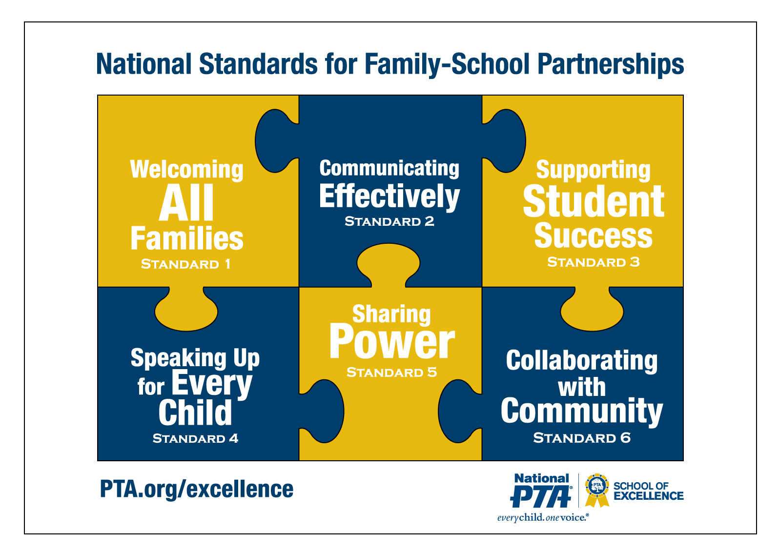 This in an image of the School of Excellence Standards.